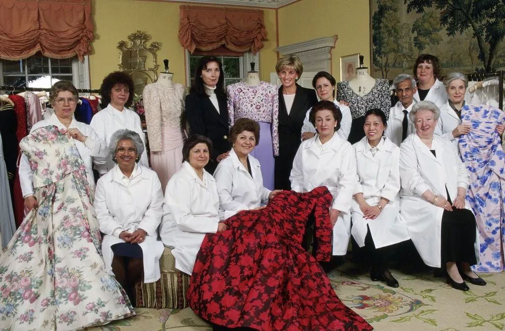 Diana invited her favourite designer, Catherine Walker, and her team to the palace