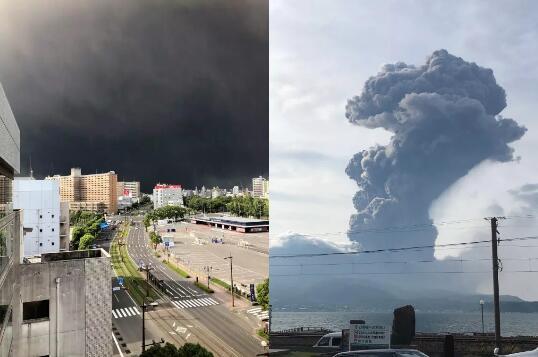 鹿儿岛樱岛火山喷发
