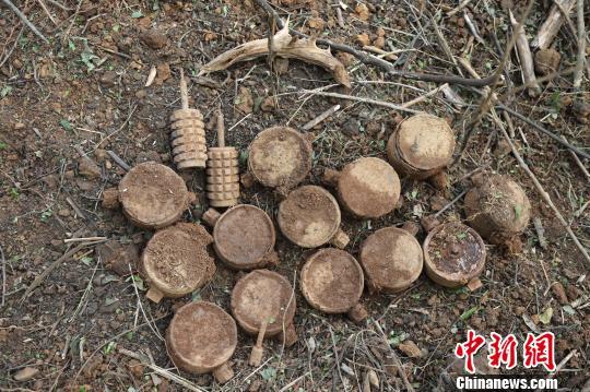 """广西边境扫雷拿下""""硬骨头"""":单个雷场排出爆炸物200余件"""
