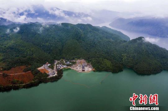 千岛湖配供火工程。杭州市火务团体供图
