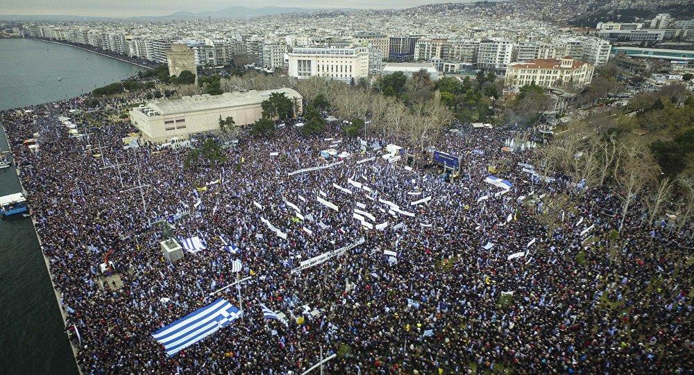 希腊爆发大规模冲突。(图片来源:俄罗斯卫星通讯社)