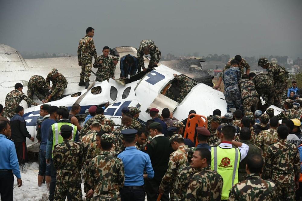 尼泊尔坠机至少40人遇难 乘客名单上有1名中国人