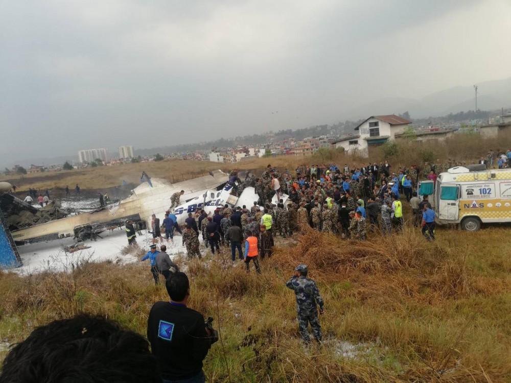 尼泊尔坠机最新情况!军方:已致至少50人死亡