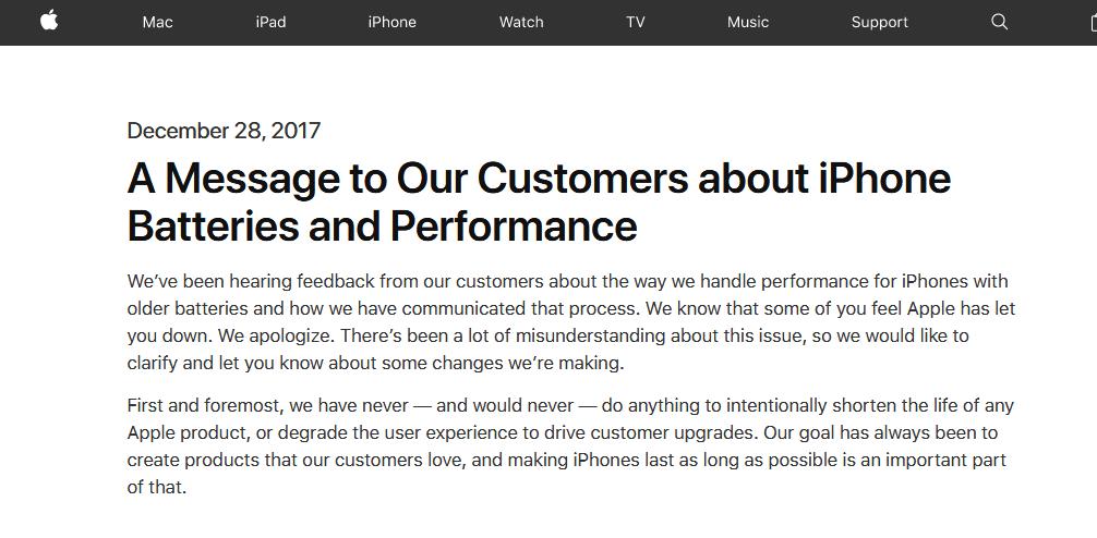 苹果官网道歉截图