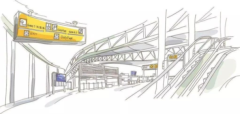 火车站简笔画