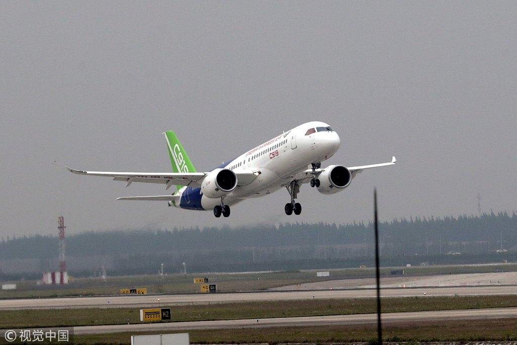 今日上午,国产c919大型客机第二架飞机将迎来首次飞行