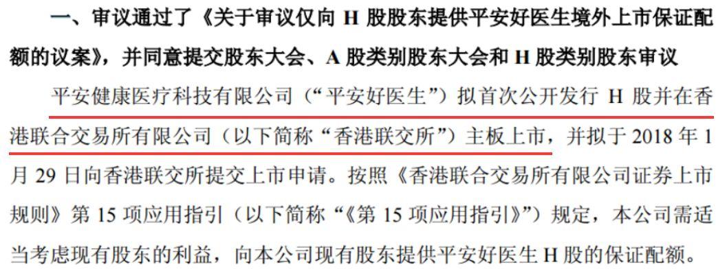 中国平安旗下平安好医生欲上市 已递交上市材料