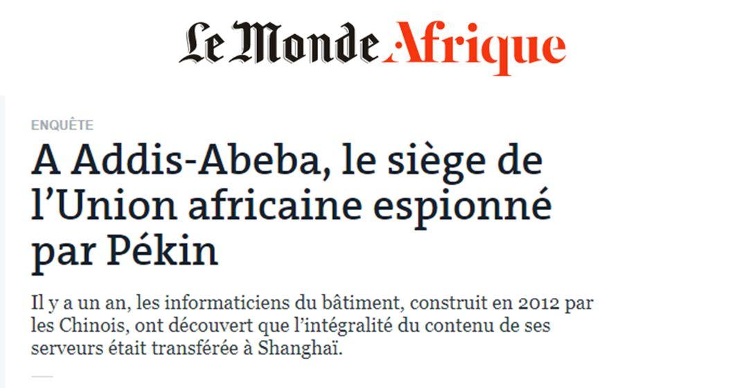 ▲法国《世界报》报道截图