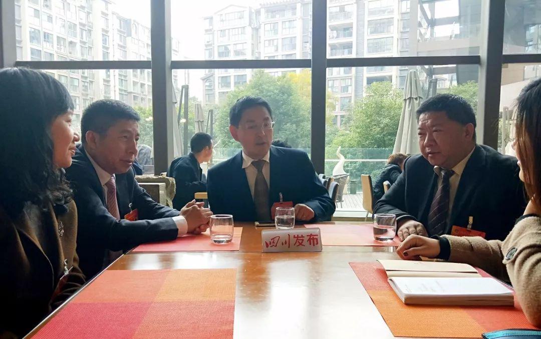 成都市政协委员接受四川发布客户端记者采访