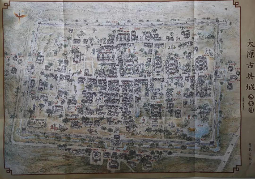 太原古县城手绘地图与游客见面!美呆了!