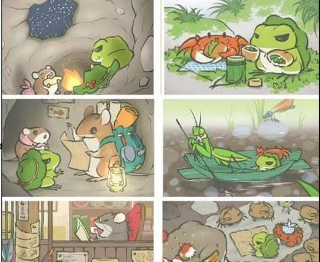 小动物看书简笔画大全可爱
