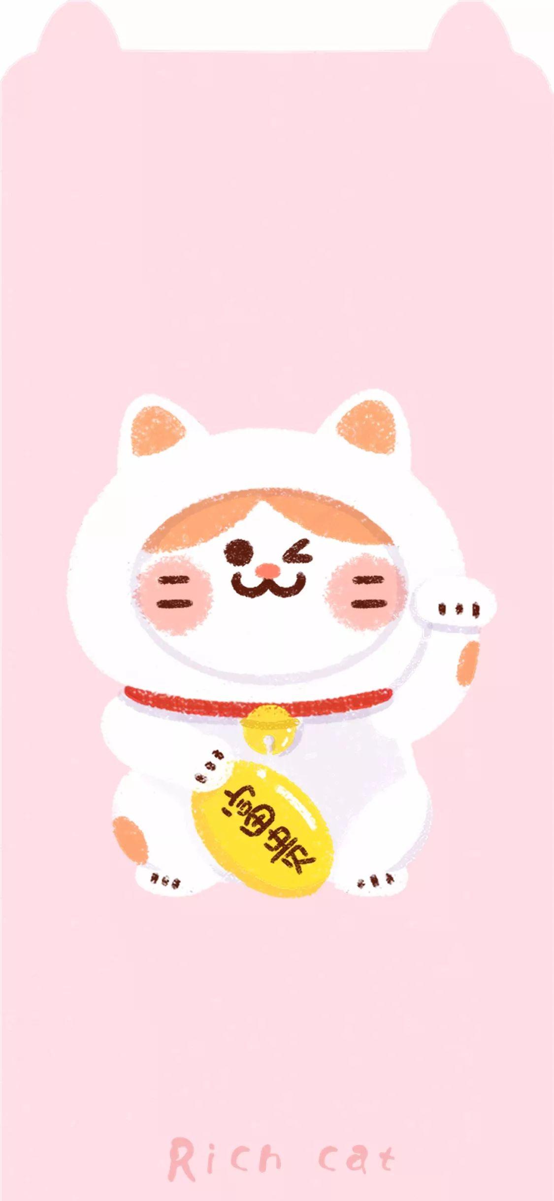 超萌壁纸,专治iphone x 齐刘海!图片