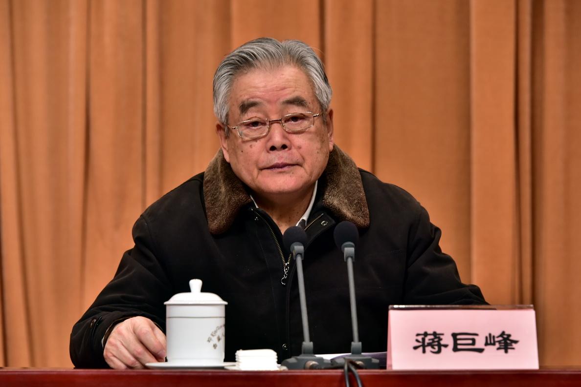 中央第六环境保护督察组组长蒋巨峰。摄影/章轲