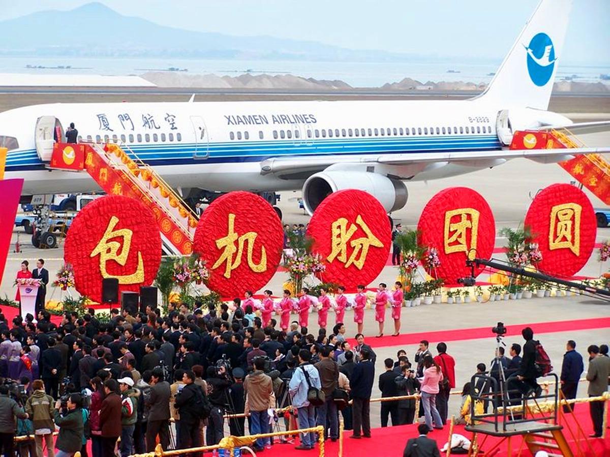两岸实现直航后,曾经温馨暖暖的两岸春节加班机,今年被台当局首次打破。