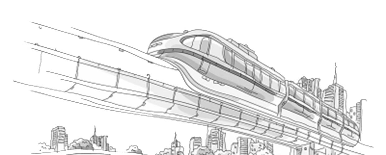 地铁简笔画大全大图