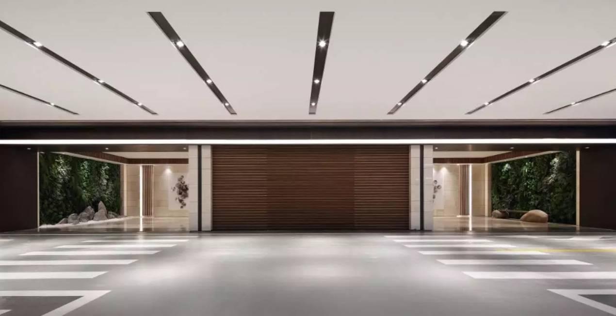 阳光城·檀悦(杭州)示范区车库临时电梯厅实景图