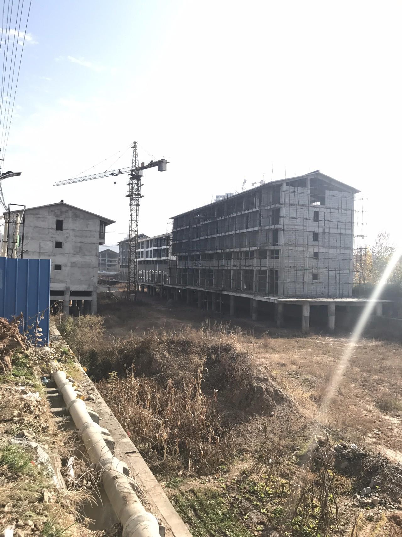 ▲卢氏水街项目,不少楼盘主体已经建好。新京报记者 贾世煜 摄