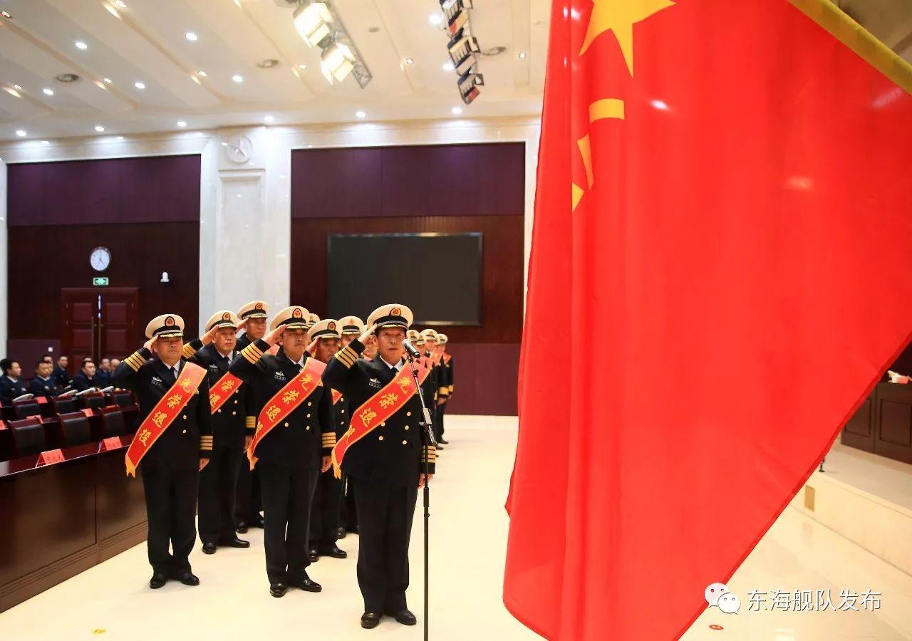 军人本色黑鸭子合唱简谱-东海舰队隆重举行2017年度师职转业干部退