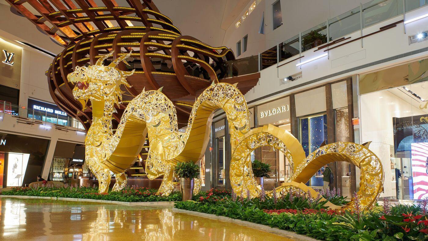 美国拉斯维加斯庆祝中国农历新年 龙狗为主角济南公积金余额查询