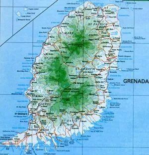 ▲格林纳达地理位置图 (中国驻格林纳达使馆网站)