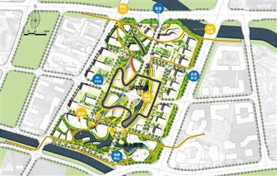 资料图:中关村人工智能科技园规划平面图。(图片来源:新华网)