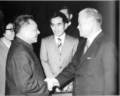 ▲资料图片:1979年12月,邓小平会见日本首相大平正芳。