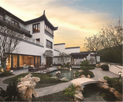 中式景观立面手绘