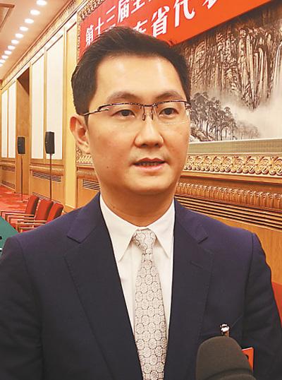 马化腾  本报记者 杜尚泽摄