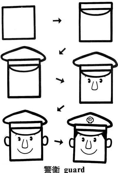 创意正方形简笔画大全,给孩子全新的图形认知概念!图片