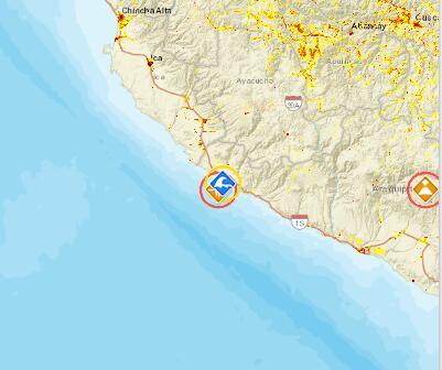 秘鲁近海发生7.3级地震 已发布海啸警报