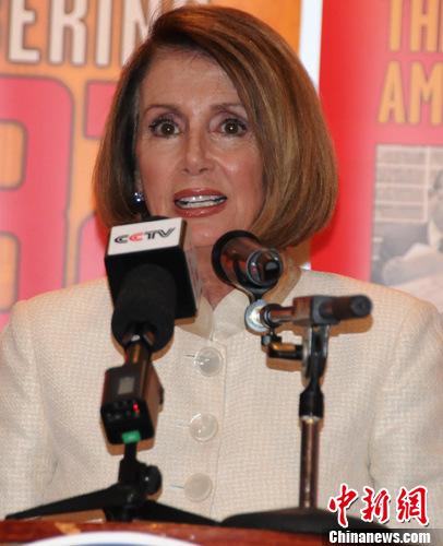 资料图片:美国众议院少数党领袖、民主党众议员南希·佩洛西。中新社发 德永健 摄