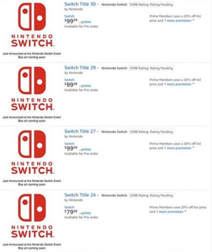"""""""临时工""""再背锅?美亚页面上架多款Switch新游戏"""