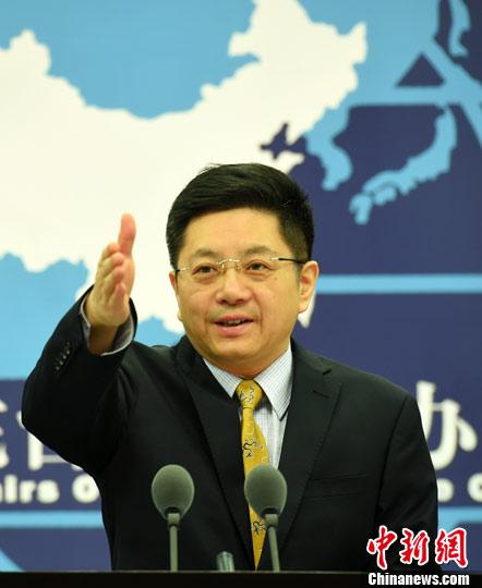 资料图:国台办发言人马晓光。中新社记者 张勤 摄