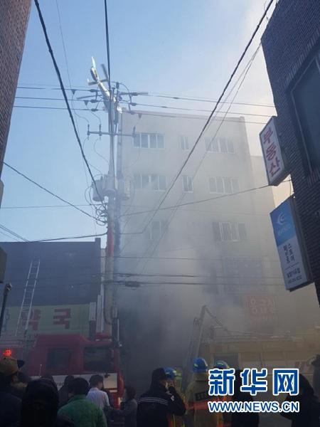 韩国医院火灾已基本控制火势 初步推测更衣室起火