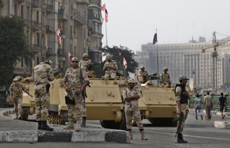 埃及军方士兵。资料图。