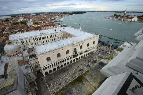 意大利威尼斯总督府外景 图片来源:法新社