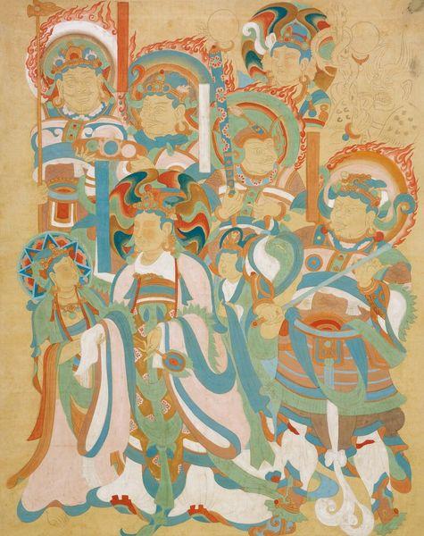 《临摹维摩变图轴》 张大千 1941―1943年 绢本设色 四川博物院藏