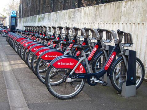 ▲桑坦德单车 图片来源:英国公共地理官网