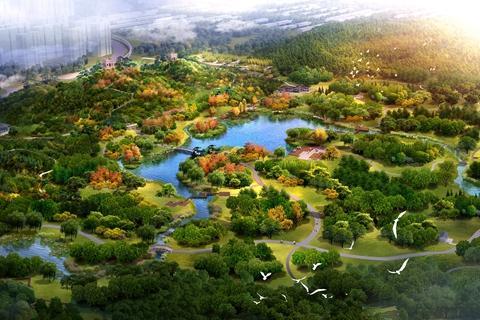 密云白河城市森林公园效果图.密云区委宣传部供图