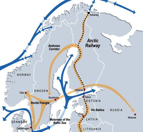 来自亚洲的货船将在希尔科内斯或挪威北部其他地方的北冰洋海岸上卸载,节省数千海里,照片:北极走廊