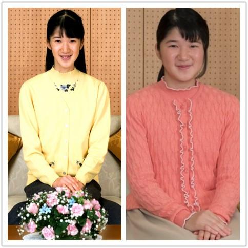 左图为日本宫内厅去年公布的爱子公主照片,右图为爱子公主近照。(图片来源于网络)