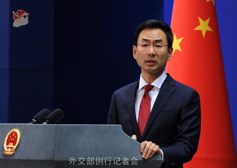 2018年6月22日,外交部发言人耿爽主持例行记者会。