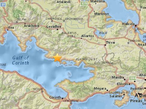 希腊中部沿海地区发生4.6级地震 雅典有震感