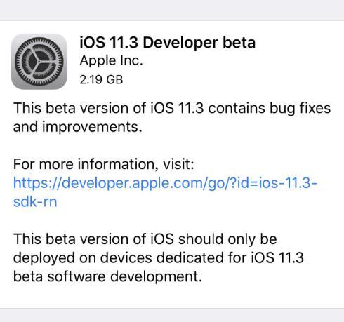 苹果发布iOS 11.3首个测试版:新增4个Animoji