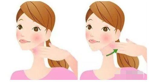 脸部护理卡通图