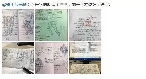 做一名医学生光会上课听讲记记要点是不够的,他还要会画画。