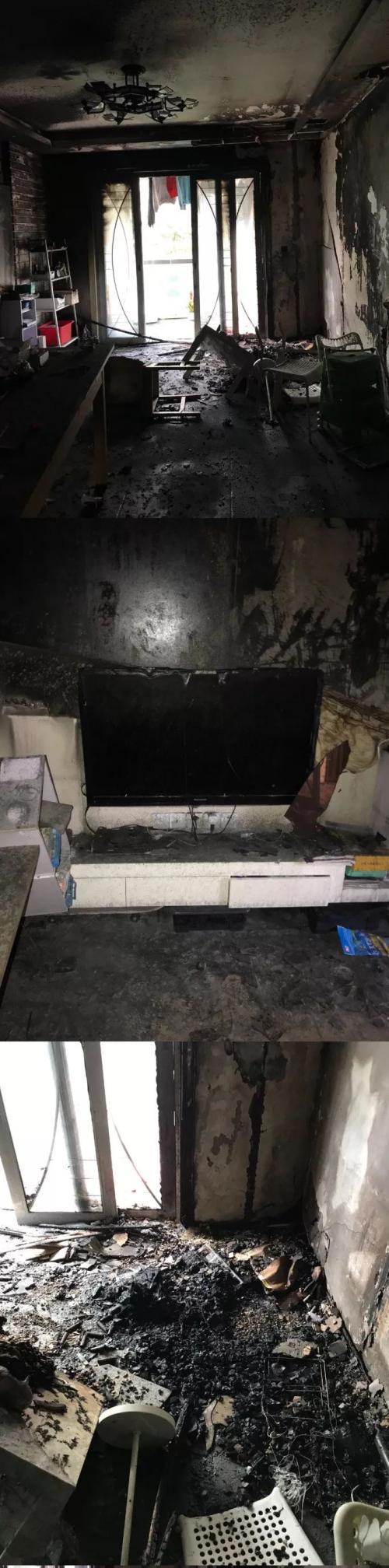 王左中右微博发布家中被烧毁后的照片