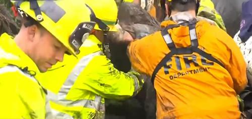 视频|加州泥石流死亡人数增至17人被埋