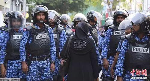 资料图片:马尔代夫警方。