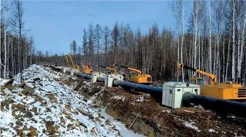 中俄原油管道,大兴安岭施工点(视觉中国)